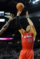 Oct 7, 2013; Portland, OR, USA; Los Angeles Clippers power forward Blake Griffin (32) shoots the ball during the first quarter against the Portland Trail Blazers at Moda Center. Mandatory Credit: Steve Dykes-USA TODAY Sports