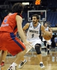 Oct 7, 2013; Minneapolis, MN, USA;  Minnesota Timberwolves guard Ricky Rubio (9) looks to pass against CSKA Moscow guard Milos Teodosic (4) in the third quarter at Target Center.  CSKA Moscow defeated the Minnesota Timberwolves 108-106 in overtime.  Mandatory Credit: Marilyn Indahl-USA TODAY Sports