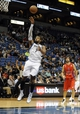 Oct 7, 2013; Minneapolis, MN, USA;  Minnesota Timberwolves forward Derrick Williams (7) takes a shot in the fourth quarter against the CSKA Moscow at Target Center.  CSKA Moscow defeated the Minnesota Timberwolves 108-106 in overtime.  Mandatory Credit: Marilyn Indahl-USA TODAY Sports