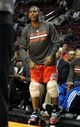 Oct 7, 2013; Portland, OR, USA; Los Angeles Clippers point guard Chris Paul (3) reacts to a play from the bench with ice on both his knees during the fourth quarter of the game against the Portland Trail Blazers at Moda Center. Mandatory Credit: Steve Dykes-USA TODAY Sports