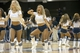 Oct 8, 2013; Asheville, NC, USA; The Charlotte Bobcats Ladycats perform during a timeout during the first half against the Atlanta Hawks at the U.S. Cellular Center. Mandatory Credit: Jeremy Brevard-USA TODAY Sports