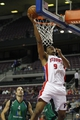 Oct 8, 2013; Auburn Hills, MI, USA; Detroit Pistons forward Tony Mitchell (9) attempts a lay up during the third quarter against Haifa at The Palace of Auburn Hills. Mandatory Credit: Raj Mehta-USA TODAY Sports