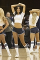 Oct 8, 2013; Asheville, NC, USA;  The Charlotte Bobcats Ladycats dance during a timeout during the first half of the game against the Atlanta Hawks at the U.S. Cellular Center.The Hawks defeated the Bobcats 87-85.  Mandatory Credit: Jeremy Brevard-USA TODAY Sports