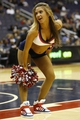 Oct 8, 2013; Washington, DC, USA; A Washington Wizards Girl dances on the court during a stoppage in play against the Brooklyn Nets in the third quarter at Verizon Center. The Nets won 111-106 in overtime. Mandatory Credit: Geoff Burke-USA TODAY Sports