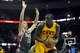 Oct 8, 2013; Cleveland, OH, USA; Milwaukee Bucks forward Olek Czyz (15) defends Cleveland Cavaliers center DeSagana Diop (5) in the fourth quarter at Quicken Loans Arena. Mandatory Credit: David Richard-USA TODAY Sports