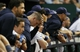 Oct 8, 2013; St. Petersburg, FL, USA; Tampa Bay Rays starting pitcher Jeremy Hellickson (58) and teammates react in the dugout during the ninth inning against the Boston Red Sox of game four of the American League divisional series at Tropicana Field. Boston Red Sox defeated theTampa Bay Rays 3-1. Mandatory Credit: Kim Klement-USA TODAY Sports