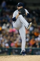 Sep 16, 2013; Detroit, MI, USA; Seattle Mariners relief pitcher Oliver Perez (59) pitches in the eighth inning against the Detroit Tigers at Comerica Park. Mandatory Credit: Rick Osentoski-USA TODAY Sports