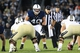 Sep 14, 2013; University Park, PA, USA; Penn State Nittany Lions linebacker Glenn Carson (40) during the fourth quarter against the Central Florida Knights at Beaver Stadium. Mandatory Credit: Matthew O'Haren-USA TODAY Sports