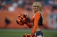 Sep 29, 2013; Denver, CO, USA; Denver Broncos cheerleader performs during the game against the Philadelphia Eagles at Sports Authority Field at Mile High. The Broncos defeated the Eagles 52-20. Mandatory Credit: Ron Chenoy-USA TODAY Sports