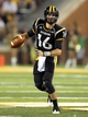 Aug 31, 2013; Hattiesburg, MS, USA; Southern Miss Golden Eagles quarterback Allan Bridgford (16) looks to pass during their game against the Texas State Bobcats at M.M. Roberts Stadium. Mandatory Credit: Chuck Cook-USA TODAY Sports