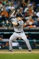 Sep 21, 2013; Detroit, MI, USA; Chicago White Sox second baseman Gordon Beckham (15) at bat against the Detroit Tigers at Comerica Park. Mandatory Credit: Rick Osentoski-USA TODAY Sports