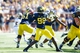 Sep 14, 2013; Ann Arbor, MI, USA; Michigan Wolverines quarterback Devin Gardner (98) passes the ball against the Akron Zips at Michigan Stadium. Mandatory Credit: Rick Osentoski-USA TODAY Sports