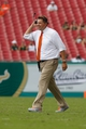 Sep 28, 2013; Tampa, FL, USA; Miami Hurricanes head coach Al Golden against the South Florida Bulls at Raymond James Stadium. Miami Hurricanes defeated the South Florida Bulls 49-21. Mandatory Credit: Kim Klement-USA TODAY Sports