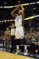 Oct 9, 2013; Memphis, TN, USA; Memphis Grizzlies point guard Jerryd Bayless (7) takes a jump shot against Dallas Mavericks at FedExForum. Mandatory Credit: Justin Ford-USA TODAY Sports