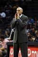 Oct 9, 2013; Memphis, TN, USA; Dallas Mavericks head coach Rick Carlisle calls a play during the game against the Memphis Grizzlies at FedExForum. Mandatory Credit: Justin Ford-USA TODAY Sports