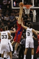 Oct 9, 2013; San Antonio, TX, USA; CSKA Moscow center Nenad Krstic (12) drives to the basket against the San Antonio Spurs during the first half at the AT&T Center. Mandatory Credit: Soobum Im-USA TODAY Sports