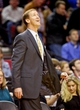 Oct 9, 2013; Portland, OR, USA; Portland Trail Blazers head coach Terry Stotts watches a replay on the scoreboard against the Phoenix Suns at the Moda Center. Mandatory Credit: Craig Mitchelldyer-USA TODAY Sports