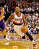 Oct 9, 2013; Portland, OR, USA; Portland Trail Blazers point guard Mo Williams (25) drives to the basket against the Phoenix Suns at the Moda Center. Mandatory Credit: Craig Mitchelldyer-USA TODAY Sports