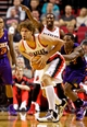 Oct 9, 2013; Portland, OR, USA; Portland Trail Blazers center Robin Lopez (42) looks to pass in the second quarter against the Phoenix Suns at the Moda Center. Mandatory Credit: Craig Mitchelldyer-USA TODAY Sports
