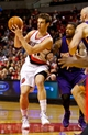 Oct 9, 2013; Portland, OR, USA; Portland Trail Blazers small forward Victor Claver (18) passes the ball against the Phoenix Suns at the Moda Center. Mandatory Credit: Craig Mitchelldyer-USA TODAY Sports