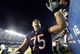Oct 10, 2013; Chicago, IL, USA; Chicago Bears offensive guard Kyle Long (75) reacts with fans after the game against the New York Giants at Soldier Field. Chicago defeats New York 27-21. Mandatory Credit: Mike DiNovo-USA TODAY Sports
