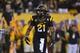 Sep 14, 2013; Tempe, AZ, USA; Arizona State Sun Devils wide receiver Jaelen Strong (21) during the game against the Wisconsin Badgers at Sun Devil Stadium. Mandatory Credit: Matt Kartozian-USA TODAY Sports