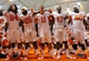 Oct 5, 2013; Syracuse, NY, USA; Clemson Tigers players sing the alma mater following the game against the Syracuse Orange at the Carrier Dome.  Clemson defeated Syracuse 49-14.  Mandatory Credit: Rich Barnes-USA TODAY Sports