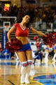 Oct 11, 2013; Newark, DE, USA; Philadelphia 76ers dream team dancers perform during the fourth quarter against the Boston Celtics at Bob Carpenter Sports Convocation Center. The Sixers defeated the Celtics 97-85. Mandatory Credit: Howard Smith-USA TODAY Sports