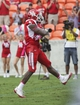Oct 12, 2013; Houston, TX, USA; Houston Cougars wide receiver Daniel Spencer (4) celebrates after scoring a touchdown during the first quarter against the Memphis Tigers at BBVA Compass Stadium. Mandatory Credit: Troy Taormina-USA TODAY Sports