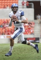 Oct 12, 2013; Houston, TX, USA; Memphis Tigers quarterback Paxton Lynch (12) looks for an open receiver during the first quarter against the Houston Cougars at BBVA Compass Stadium. Mandatory Credit: Troy Taormina-USA TODAY Sports