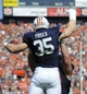 Oct 12, 2013; Auburn, AL, USA; Auburn Tigers fullback Jay Prosch (35) celebrates a touchdown in the first quarter against the Western Carolina Catamounts at Jordan Hare Stadium. Mandatory Credit: Shanna Lockwood-USA TODAY Sports