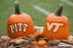 Oct 12, 2013; Blacksburg, VA, USA; Pumpkins sit in the end zone for both teams in the game between the Virginia Tech Hokies and the Pittsburgh Panthers at Lane Stadium. The Hokies defeated Pitt 19-9. Mandatory Credit: Jeremy Brevard-USA TODAY Sports