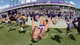 Oct 12, 2013; Fort Worth, TX, USA; TCU cheerleaders perform backflips during the game against the Kansas Jayhawks at Amon G. Carter Stadium.  Mandatory Credit: Kirby Lee-USA TODAY Sports