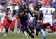 Oct 12, 2013; Fort Worth, TX, USA; TCU Horned Frogs quarterback Trevone Boykin (2) carries the ball against the Kansas Jayhawks at Amon G. Carter Stadium. TCU defeated Kansas 27-17. Mandatory Credit: Kirby Lee-USA TODAY Sports