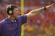 Oct 12, 2013; Clemson, SC, USA; Clemson Tigers defensive coordinator Brent Venables reacts during the first quarter against the Boston College Eagles at Clemson Memorial Stadium. Mandatory Credit: Joshua S. Kelly-USA TODAY Sports