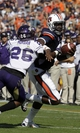Oct 12, 2013; Auburn, AL, USA; Auburn Tigers quarterback Jeremy Johnson (2) is grabbed by Western Carolina Catamounts defensive back Trey Morgan (26) during the second half at Jordan Hare Stadium.  The Tigers beat the Catamounts 62-3.  Mandatory Credit: John Reed-USA TODAY Sports