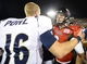 Oct 12, 2013; DeKalb, IL, USA; Northern Illinois Huskies quarterback Jordan Lynch (6) shakes hands with Akron Zips quarterback Kyle Pohl (16) after the game at Huskie Stadium. Northern Illinois defeats Akron 27-20. Mandatory Credit: Mike DiNovo-USA TODAY Sports