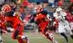 Oct 12, 2013; El Paso, TX, USA; UTEP Miners running back Aaron Jones (29) runs the ball against the Tulsa Hurricane defense at Sun Bowl Stadium. Mandatory Credit: Ivan Pierre Aguirre-USA TODAY Sports