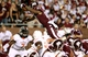 Oct 12, 2013; Starkville, MS, USA; Mississippi State running back LaDarious Perkins (27) dives over the Bowling Green Falcons defense to score at Davis Wade Stadium. Mandatory Credit: Marvin Gentry-USA TODAY Sports
