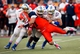 Oct 12, 2013; El Paso, TX, USA; UTEP Miners tight end Eric Tomlinson (87) is tackled by a group of Tulsa Hurricane defenders at Sun Bowl Stadium. Mandatory Credit: Ivan Pierre Aguirre-USA TODAY Sports