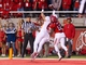 Oct 12, 2013; Salt Lake City, UT, USA; Stanford Cardinal wide receiver Devon Cajuste (89) catches a touchdown pass while defended by Utah Utes defensive back Justin Thomas (12) during the second half at Rice-Eccles Stadium. Utah defeated Stanford 27-21. Mandatory Credit: Russ Isabella-USA TODAY Sports