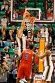 Oct 12, 2013; Salt Lake City, UT, USA; Utah Jazz center Enes Kanter (0) dunks the ball during the second quarter at EnergySolutions Arena. Mandatory Credit: Chris Nicoll-USA TODAY Sports