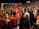 Oct 12, 2013; Salt Lake City, UT, USA; Utah Utes fans and players celebrate a 27-21 victory over the Stanford Cardinal at Rice-Eccles Stadium. Mandatory Credit: Russ Isabella-USA TODAY Sports