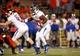 Oct 12, 2013; El Paso, TX, USA; Tulsa Hurricane running back Trey Watts (22) runs the ball against the UTEP Miners defense at Sun Bowl Stadium. Tulsa defeated UTEP 30-20. Mandatory Credit: Ivan Pierre Aguirre-USA TODAY Sports