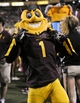 Oct 12, 2013; Tempe, AZ, USA; Arizona State Sun Devils mascot Sparky on  the sidelines during the third quarter against the Colorado Buffaloes at Sun Devil Stadium. The Sun Devils beat the Buffaloes 54-13. Mandatory Credit: Casey Sapio-USA TODAY Sports
