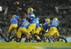 October 12, 2013; Pasadena, CA, USA; UCLA Bruins quarterback Brett Hundley (17) throws a pass against the California Golden Bears during the second half at the Rose Bowl. Mandatory Credit: Gary A. Vasquez-USA TODAY Sports