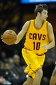 Oct 8, 2013; Cleveland Cavaliers shooting guard Sergey Karasev (10) during a game against the Milwaukee Bucks at Quicken Loans Arena. Cleveland won 99-87. Mandatory Credit: David Richard-USA TODAY Sports