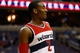 Oct 8, 2013; Washington, DC, USA; Washington Wizards point guard John Wall (2) stands on the court against the Brooklyn Nets at Verizon Center. Mandatory Credit: Geoff Burke-USA TODAY Sports