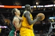 Oct 8, 2013; Cleveland Cavaliers center DeSagana Diop (right) and Milwaukee Bucks forward Olek Czyz during a game at Quicken Loans Arena. Cleveland won 99-87. Mandatory Credit: David Richard-USA TODAY Sports