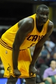 Oct 8, 2013; Cleveland Cavaliers center DeSagana Diop (5) during a game against the Milwaukee Bucks at Quicken Loans Arena. Cleveland won 99-87. Mandatory Credit: David Richard-USA TODAY Sports